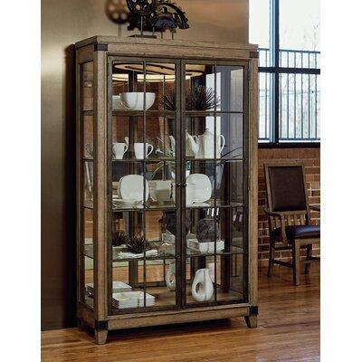 MetalWorks Solid Hardwood Corner Bunching Display Cabinet