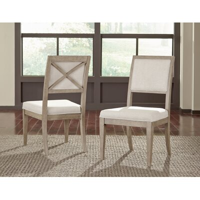 Amina Upholstered Wood Dining Chair (Set of 2)