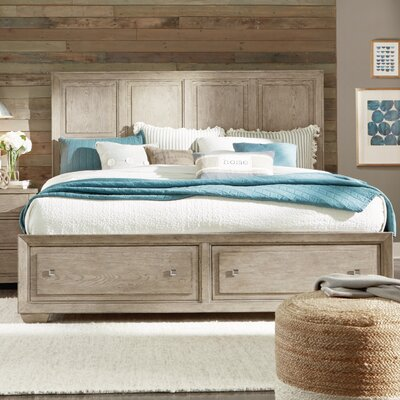 Amina Complete Panel Bed with Storage Footboard Size: King