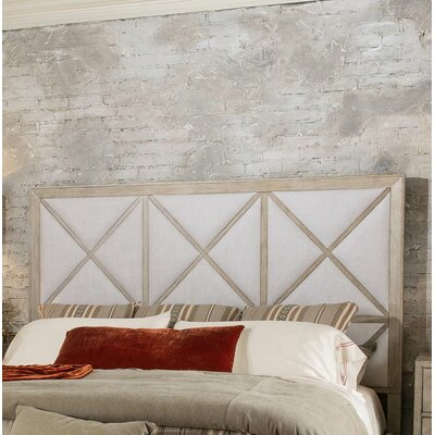 Amina Upholstered Panel Headboard Size: King