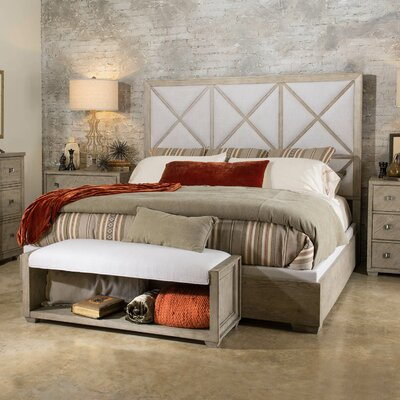 Amina Complete Upholstered Panel Bed Size: King