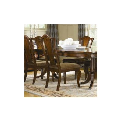 Fitzpatrick Splat Back Side Chair in Distressed Rich Cordovan Mahogany (Set of 2)