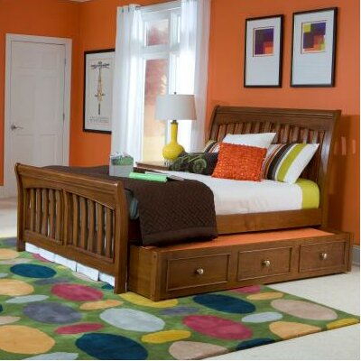 Cheap Cinnamon Sleigh Bed with Trundle (LCF1805)