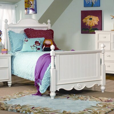 Cheap Summer Breeze Scroll Top Low Poster Bed (LCF1401)