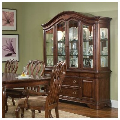Cheap Legacy Classic Furniture Heritage Court Buffet with Hutch in Distressed Cocoa Brown (LCF1852)
