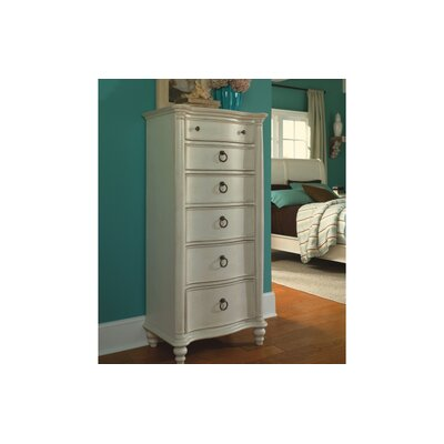 Legacy Classic Furniture 1520-2300 Glen Cove 6 Lingerie Chest in Weathered White/Slight Distressing