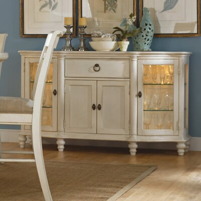 Legacy Classic Furniture 1520 151 Glen Cove Credenza In Weathered  White/Slight Distressing