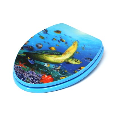 3D Ocean Series Elongated Toilet Seat