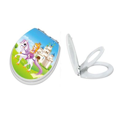 TinyHiney Princess Potty Slow Close Round Toilet Seat