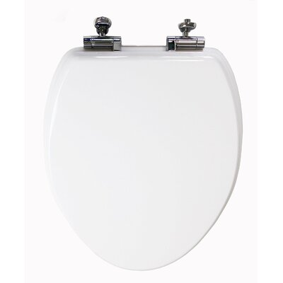 Elongated Wood Slow Close Toilet Seat