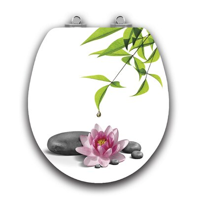 Art of Acryl Water Lily Slow Close Round Toilet Seat