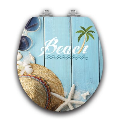 Art of Acryl Beach Slow Close Round Toilet Seat