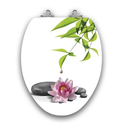Art of Acryl Water Lily Slow Close Elongated Toilet Seat