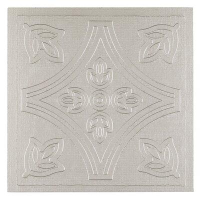 Metallo 4 x 4 Vinyl Tile in Silver