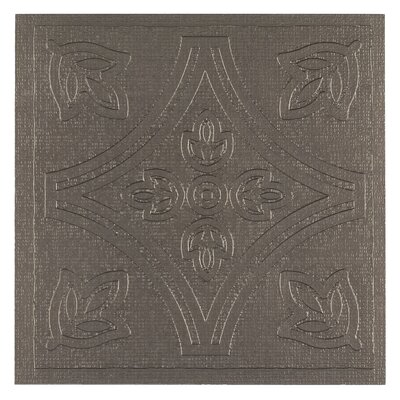Metallo 4 x 4 Vinyl Tile in Pewter