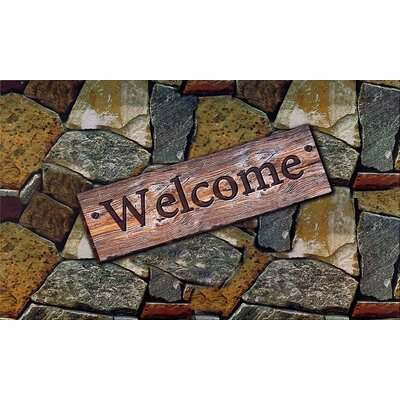 Welcome Quarry Stones Doormat