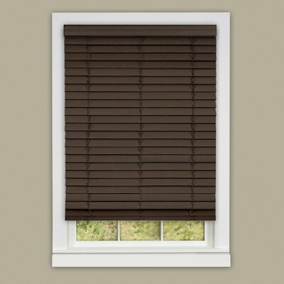 Madera Falsa Room Darkening Venetian Blind Size: 34.5 W x 64 L, Color: Mahogany