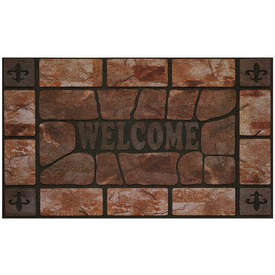 Raised Rubber Clay Stone Doormat