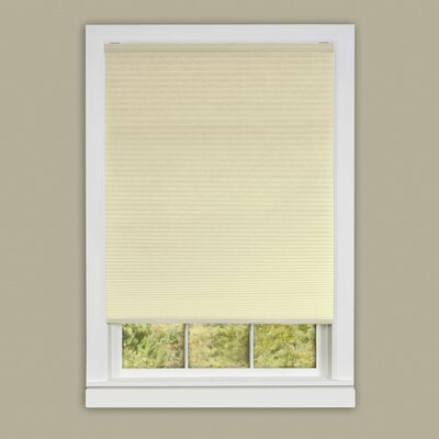 Honeycomb Cellular Cordless Pleated Shade Color: Alabaster, Size: 45 W x 64 L