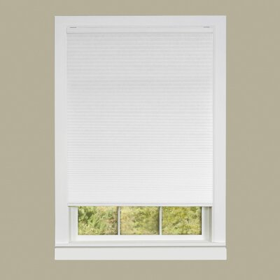 Honeycomb Cellular Cordless Pleated Shade Size: 34 W x 64 L, Color: White
