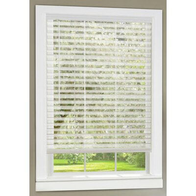 Light Vane Cordless Venetian Blind Size:  35 W x 64 L, Color: White