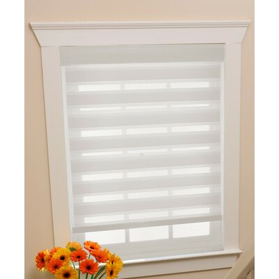 Sheer Roll-Up Shade Blind Size: 34 W x 72 L, Blind Color: White