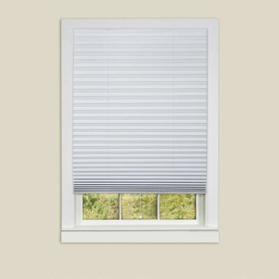 1-2-3 Vinyl Room Darkening Pleated Shade Size: 48 W x 75 L, Color: White