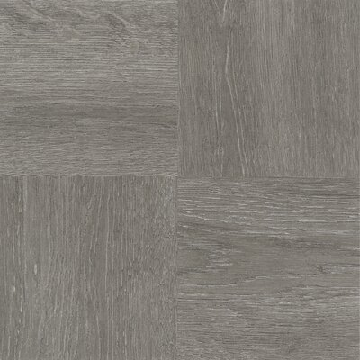 Tivoli Wood 12 x 12 x 1.2mm Luxury Vinyl Tile in Charcoal Gray