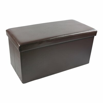Collapsible Storage Ottoman Upholstery Color: Brown