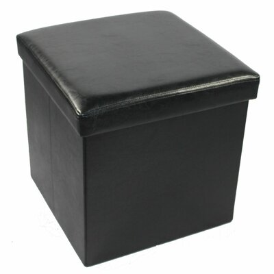 Collapsible Storage Ottoman Upholstery Color: Black