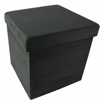 Collapsible Storage Ottoman Upholstery Color: Charcoal
