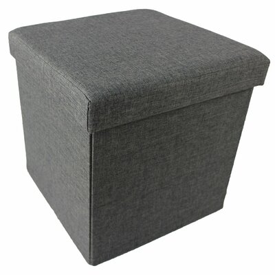 Collapsible Storage Ottoman Upholstery Color: Gray