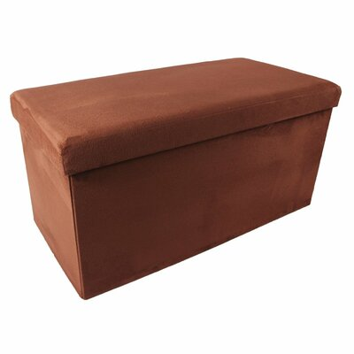 Collapsible Storage Ottoman Upholstery Color: Brick