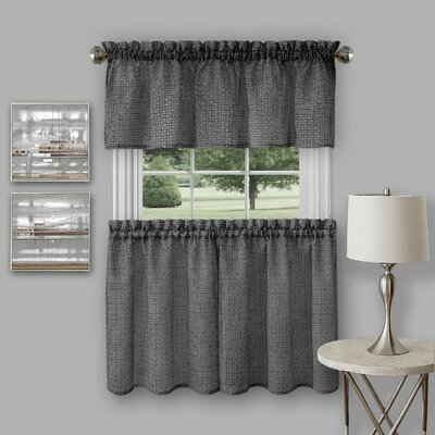 Richmond 3 Piece 58 Tier Curtain and Kitchen Valance Set