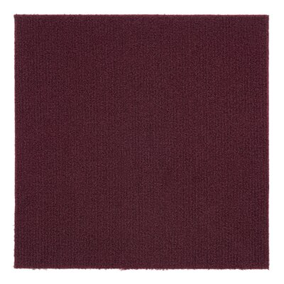 Nexus 12 x 12 Carpet Tile in Burgundy