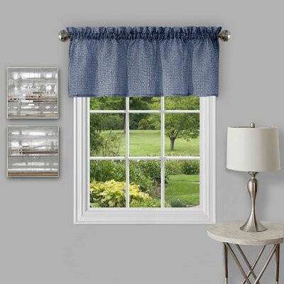 Richmond Window 58 Curtain Valance Color: Navy