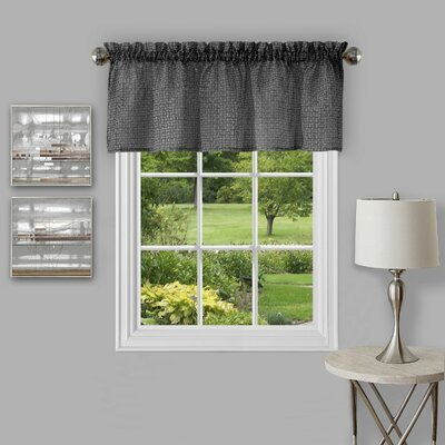 Richmond Window 58 Curtain Valance Color: Black