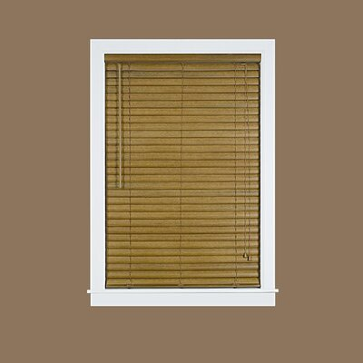 Venetian Blind Size: 47.5 W x 64 L, Color: Woodtone