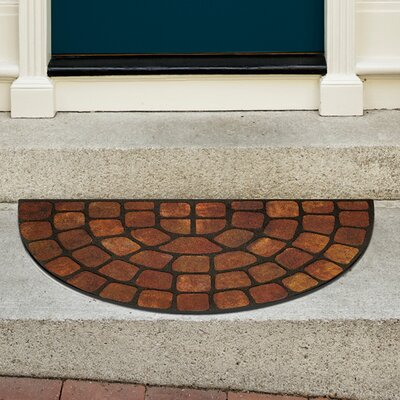 Raised Rubber Stone Slice Doormat Color: Beige