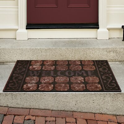 Raised Rubber Octagon Squares Doormat