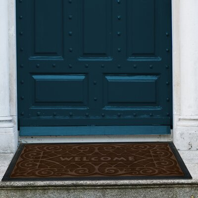 Wrought Iron Doormat Color: Coffee