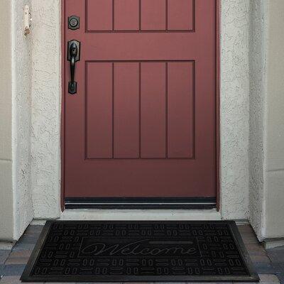 Parquet Doormat Color: Black