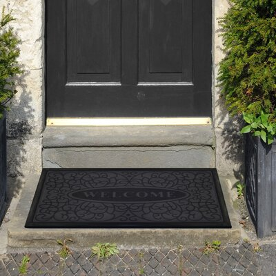 Swirl Welcome Doormat Color: Grey