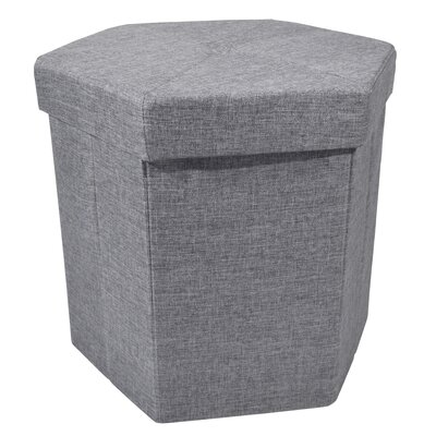 Stasia Collapsible Hexagon Storage Ottoman