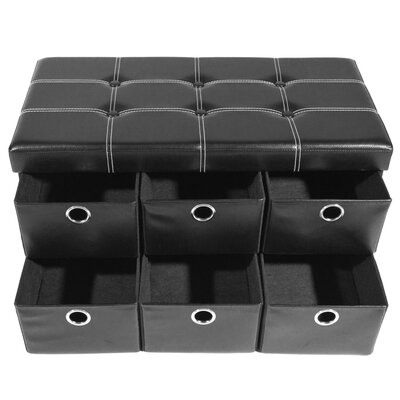 Stefania Collapsible Storage Ottoman