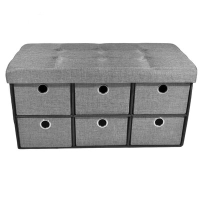 Collapsible 6 Drawer Storage Ottoman