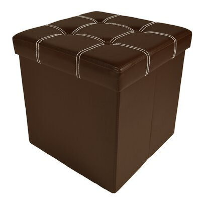 Truxton Collapsible Tufted Storage Ottoman Upholstery: Brown