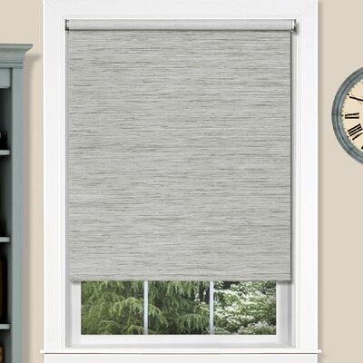 Cordless Privacy Jute Gray Roller Shade