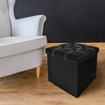 Watkins Collapsible Storage Ottoman Finish: Black