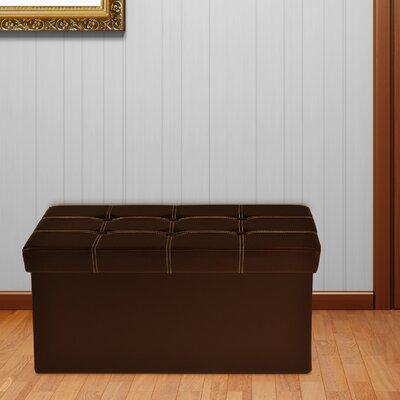 Nicholson Collapsible Tufted Storage Ottoman Finish: Brown